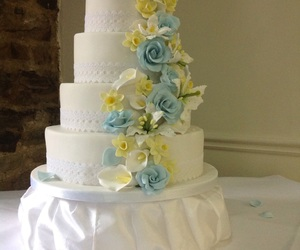 cake, calla lilies, and derbyshire image