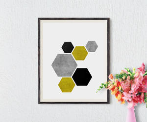 colorful, etsy, and hexagon image