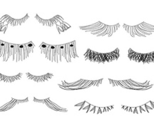 eyelashes, lashes, and drawing image