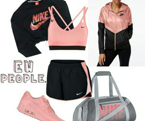 nike, pink, and Polyvore image