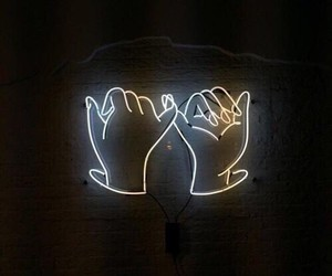 neon, promise, and light image