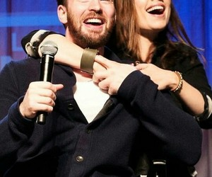 chris evans, hayley atwell, and captain america image