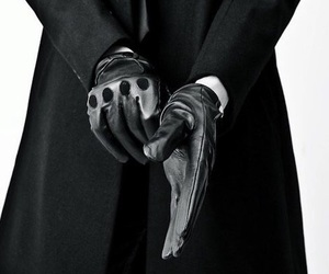 black, gloves, and man image