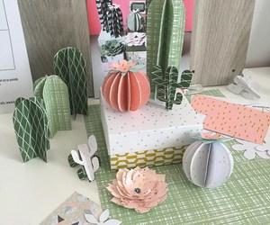 cactus, diy, and papercraft image