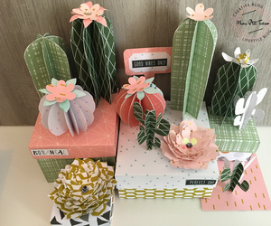 cactus, diy, and papercraft image