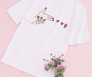clothes, flowers, and heart image