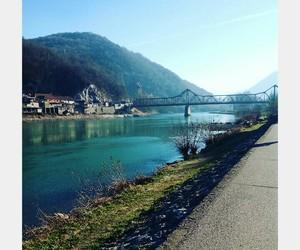 bridge, drina, and zvornik image