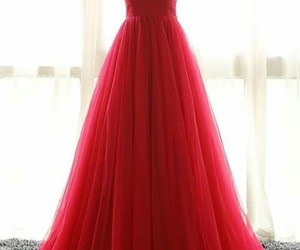 dress, red, and long image