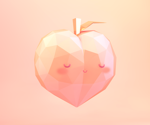 3d, colour, and low poly image