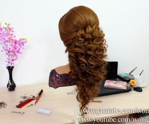 hairstyles, Prom, and prom hair image