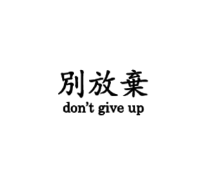quote, don't give up, and chinese image