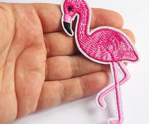 etsy, flamingo, and patch image
