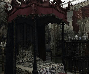 bed, goth, and gothic image