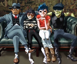 2d, gorillaz, and noodle image