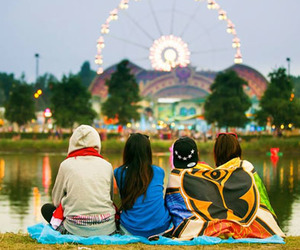 Tomorrowland, festival, and friendship image