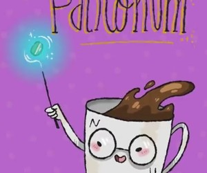 coffee, magic, and harrypotter image