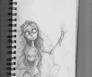 tim burton and drawing image