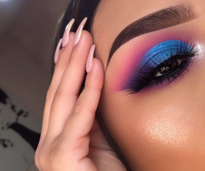 blue, glitter, and eyeshadow image
