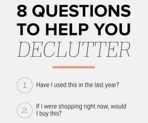 list, tidy up, and declutter image