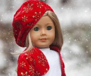 christmas, winter clothes, and doll clothing image