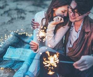 amazing, couple, and fairy lights image