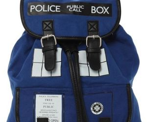 backpack, blue box, and doctor who image