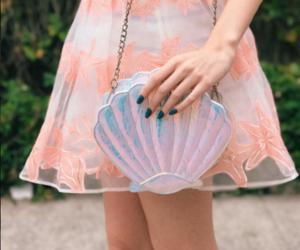 bag, fashion, and shell image