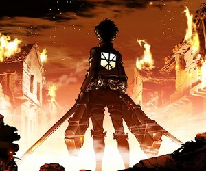 anime, attack on titan, and shingeki no kyojin image