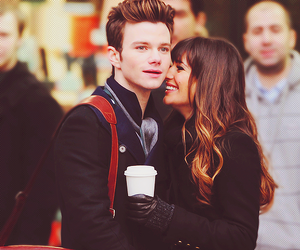 glee, chris colfer, and lea michele image