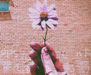 flowers, art, and wall image