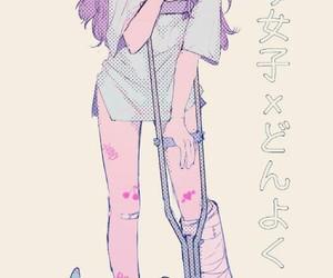 bandage, girl, and pastel image