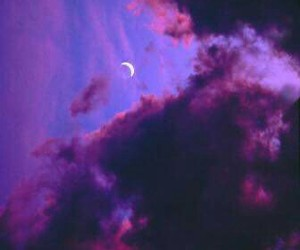 moon, purple, and sky image