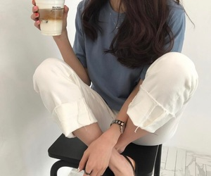 aesthetic, ulzzang, and blue image