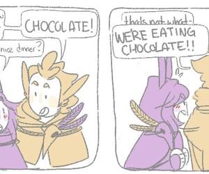 chocolate, comic, and funny image