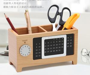 organizer, wood, and calendar image