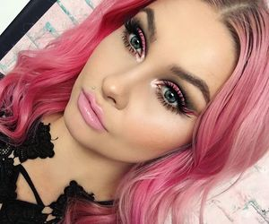beauty, dyed hair, and hair image