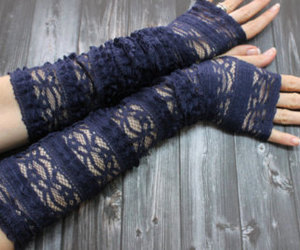 accessories, fingerless gloves, and etsy image