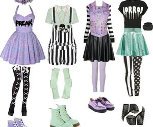 pastel goth and outfit image