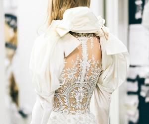 weddings, fashionweek, and backless image