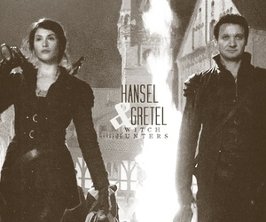 hansel and gretel, gemma arterton as gretal, and jeremy renner as hansel image