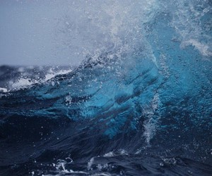 blue, wave, and ocean image