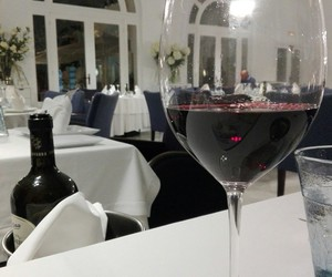 red wine, tunisia, and restaurant image
