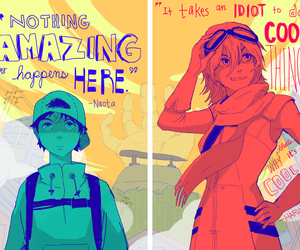 angst, flcl, and funny image