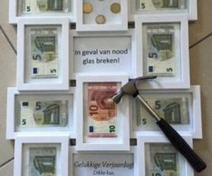 birthday, money, and present image