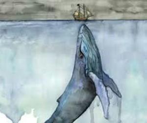 art, fish, and ship image