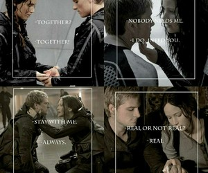 katniss, hunger games, and love image