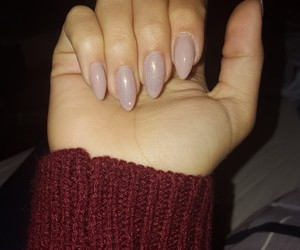 almond, mermaid, and nails image