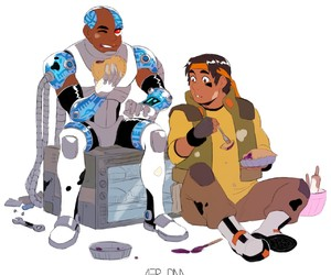 cyborg, hunk, and Voltron image
