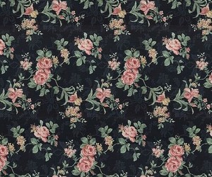 background, floral, and black image
