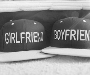 boyfriend, girlfriend, and hat image